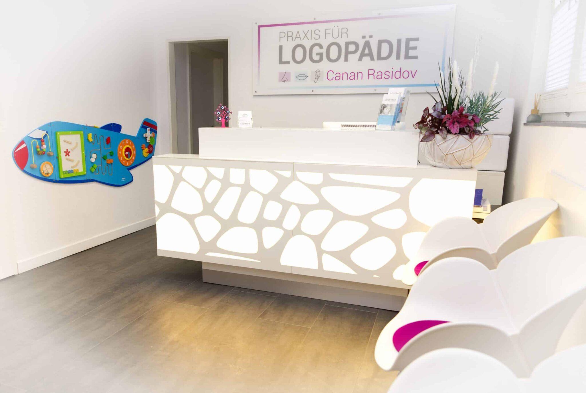 Wartezimmer der Praxis für Logopädie